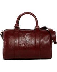 Shinola Small Leather Duffel Bag