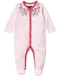 7 For All Mankind - Embroidered Footie (baby Girls) - Lyst