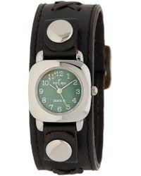 Peyote Bird - The Sundancer Leather & Sterling Silver Watch, 20mm - Lyst