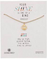 Dogeared - 14k Gold Vermeil Your Shine Peace Bracelet - Lyst