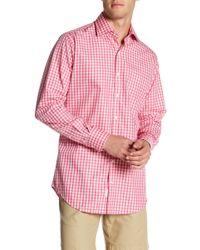 Peter Millar - Yachting Gingham Print Regular Fit Shirt - Lyst