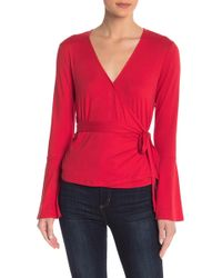 Material Girl - Wrap Front Long Sleeve Top - Lyst
