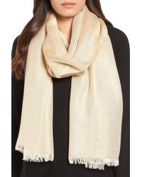 Nordstrom - Metallic Lightweight Wrap - Lyst