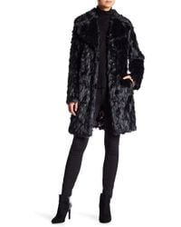 Eliza J - Shaggy Faux Fur Topper - Lyst
