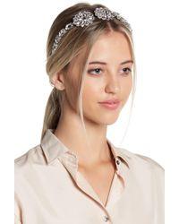 Cara - Daisy Crystal Rhinestone Headband - Lyst