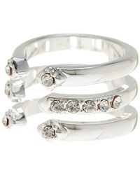 BCBGeneration - Crystal Detail 3 Layer Ring - Lyst