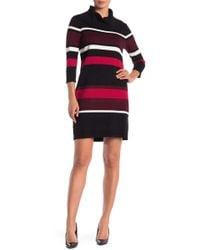 Sandra Darren - Cowl Neck Sweater Dress - Lyst