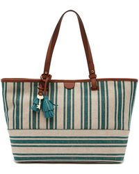 Fossil - Rachel Striped Canvas Tote - Lyst
