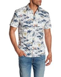 Lucky Brand - Ballona Short Sleeve Shirt - Lyst