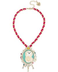 Betsey Johnson - Poodle Cameo Pendant Necklace - Lyst