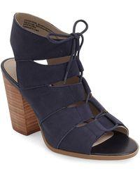 Hinge - 'drea' Peep Toe Leather Sandal - Lyst