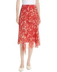 Jason Wu - Print Clip Dot Asymmetrical Skirt - Lyst