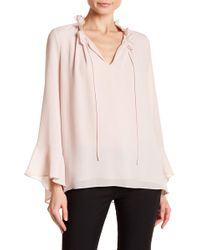 Ellen Tracy - Ruffle Trim Blouse - Lyst