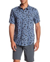 RVCA - Od Floral Short Sleeve Slim Fit Shirt - Lyst