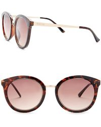 Kenneth Cole Reaction - Women's Metal Round Injected Sunglasses - Lyst