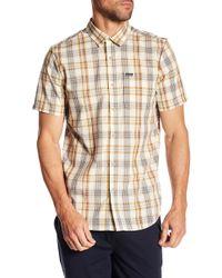 Volcom - Surplus Short Sleeve Plaid Print Modern Fit Shirt - Lyst