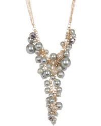 c.A.K.e. By Ali Khan - Parisian Pearl Crystal Bead Gold Accent Necklace & Earrings 2-piece Set - Lyst