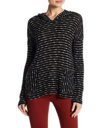 Two By Vince Camuto - Flap Pocket Knit Hoodie - Lyst