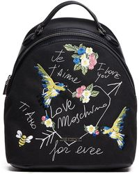Love Moschino | Embroidered Canvas Backpack | Lyst