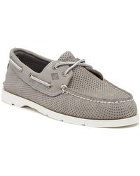 Sperry Top-Sider - Leeward 2-eye Perforated Leather Boat Shoe - Lyst