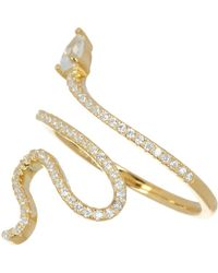 Adornia - Pave Crystal Snake Ring - Size 7 - Lyst