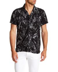Kenneth Cole - Palm Trees Short Sleeve Regular Fit Shirt - Lyst