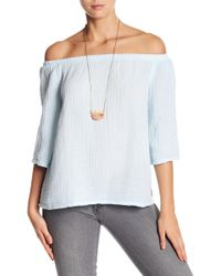 Michael Stars - Double Gauze Off-the-shoulder Blouse - Lyst
