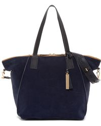 Vince Camuto - Alicia Suede & Leather Tote - Lyst