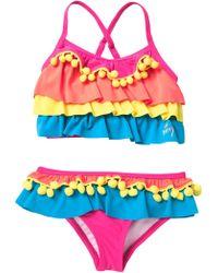 0005dbf19c Tj Maxx Girls 2pc Pom Pom Bikini Set in Blue - Lyst