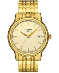 Tissot - Men's Carson Swiss Quartz Bracelet Watch, 39.2mm - Lyst