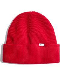 dfd7ee87458 Madewell - Cuffed Cosy Merino Wool Beanie Hat - Lyst