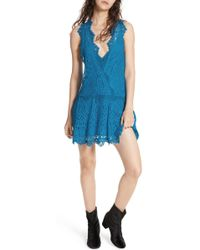 Free People - Heart In Two Lace Minidress - Lyst