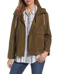 Caslon - Caslon Short Hooded Jacket - Lyst
