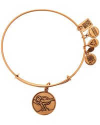 ALEX AND ANI - Team Usa Skiing Charm Expandable Wire Bangle - Lyst