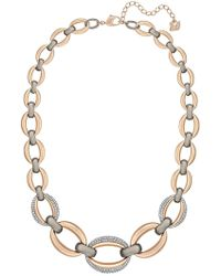 Swarovski - Circlet Two-tone Crystal Embellished Gourmette Chain Necklace - Lyst