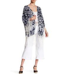 Raga - Tropic Blues Fringe Kimono - Lyst