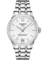 Tissot - Women's T-classic Chemin Des Tourelles Swiss Automatic Bracelet Watch, 32mm - Lyst