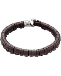Uno De 50 - Hook Plaited Leather Bracelet - Lyst