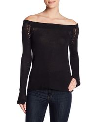 Inhabit | Off-the-shoulder Ribbed Knit Sweater | Lyst