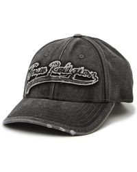True Religion - Washed Applique Baseball Cap - Lyst