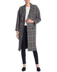 Madewell - Goodwin Plaid Wool Blend Overcoat - Lyst