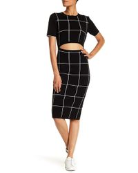 Jason Wu - Cutout Front Windowpane Dress - Lyst