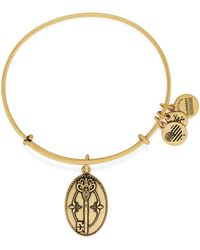 ALEX AND ANI - Key To Life Charm Expandable Wire Bracelet - Lyst