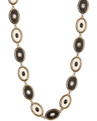 House of Harlow 1960 - Black Leather Inlay Del Sol Necklace - Lyst