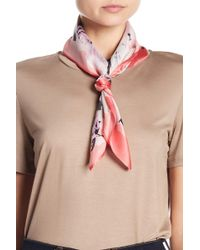 Halogen - Silk Printed Square Scarf - Lyst