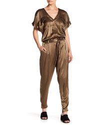 Splendid - Short Sleeve Jumpsuit - Lyst