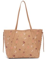 Lucky Brand - Nela Floral Suede Tote - Lyst