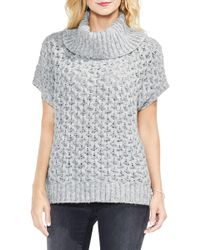 Two By Vince Camuto - Honeycomb Funnel Neck Jumper - Lyst