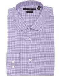 John Varvatos - Checkered Regular Fit Dress Shirt - Lyst