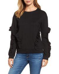 Halogen - (r) Ruffle Detail Sweatshirt - Lyst